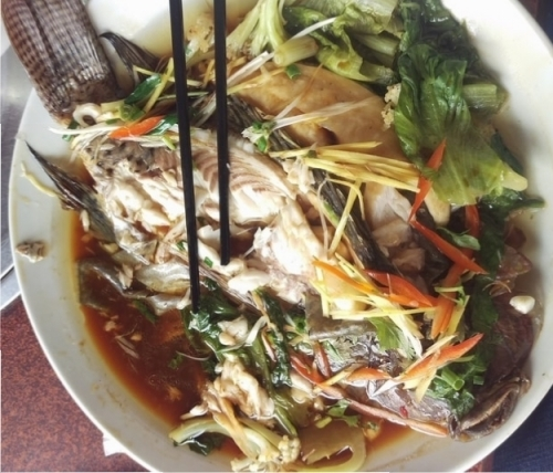 Ryba i warzywa w stylu azjatyckim